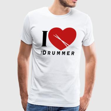 I love the Drummer - Men's Premium T-Shirt