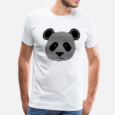 Emo Stripes panda stripes - Men's Premium T-Shirt