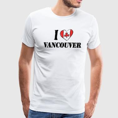 I Love Vancouver - Men's Premium T-Shirt