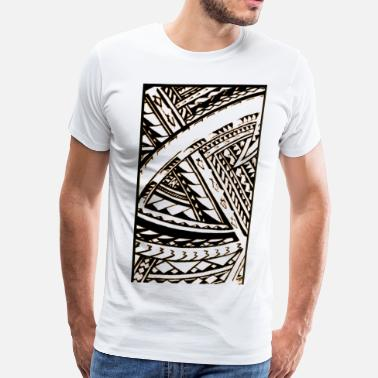 Polynesian Fili Samoan Tribal art by Sku - Men's Premium T-Shirt