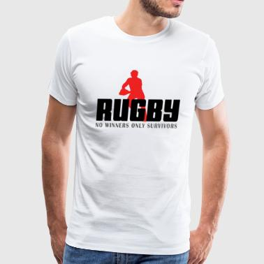 Rugby No Winners Only Survivors - Men's Premium T-Shirt