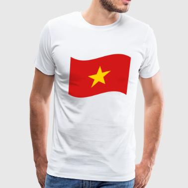 Vietnam Flag Wave - Men's Premium T-Shirt