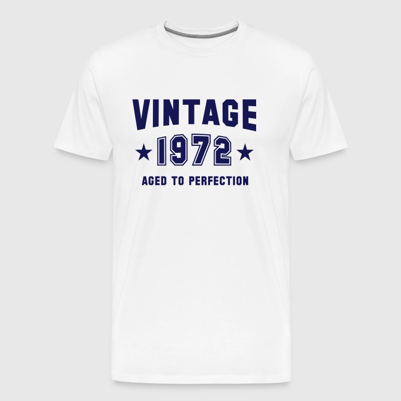 VINTAGE 1972 - Aged To Perfection - Birthday - Men's Premium T-Shirt