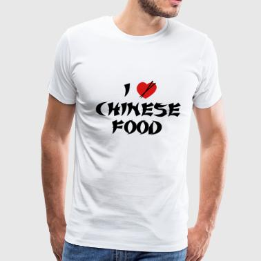 Chinese Food I Love Chinese Food - Men's Premium T-Shirt