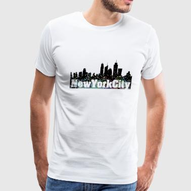 Empire State Building New York nyc_sequin_1 - Men's Premium T-Shirt