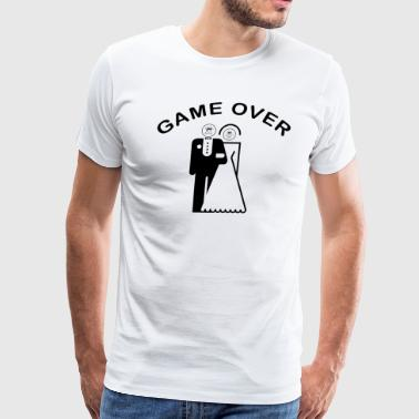 Game Over Just Married - Men's Premium T-Shirt