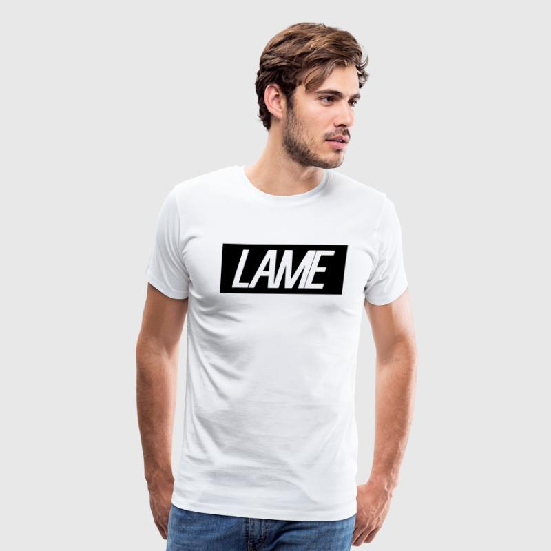 lame/black rectangle - Men's Premium T-Shirt