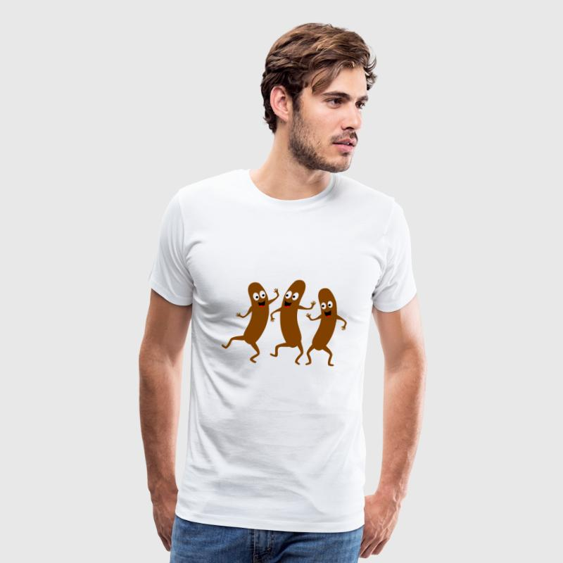 dancing sausage - Men's Premium T-Shirt