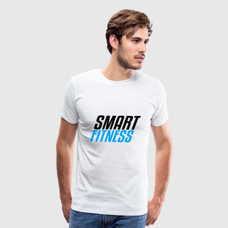 Smart Fitness Blue Black - Men's Premium T-Shirt