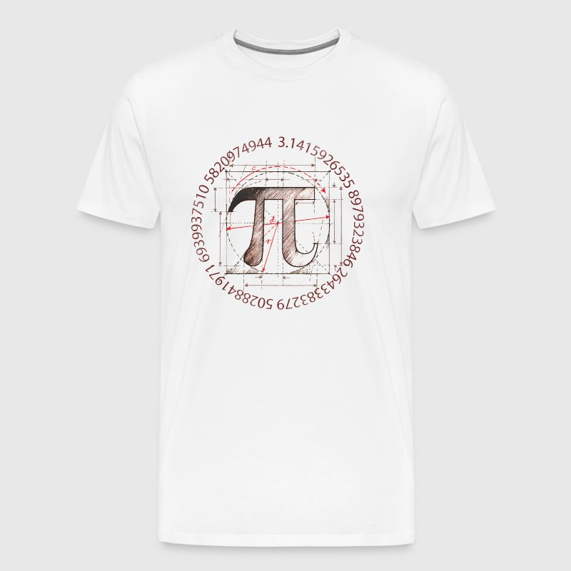 Pi Drawing - Men's Premium T-Shirt