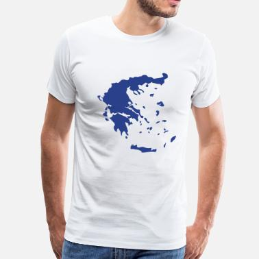 Greece Map Greece - Men's Premium T-Shirt