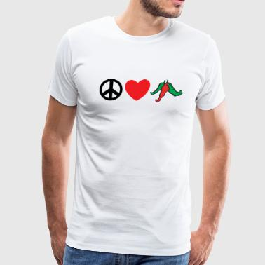 Mexican Peace Love Hot Peppers - Men's Premium T-Shirt