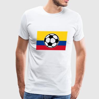 Soccer Colombia Flag - Men's Premium T-Shirt