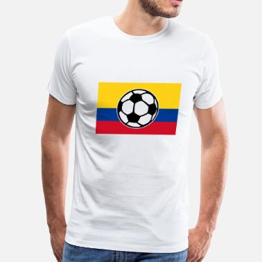 4f9d7cc31a3 Colombia Soccer Team Soccer Colombia Flag - Men s Premium T-Shirt