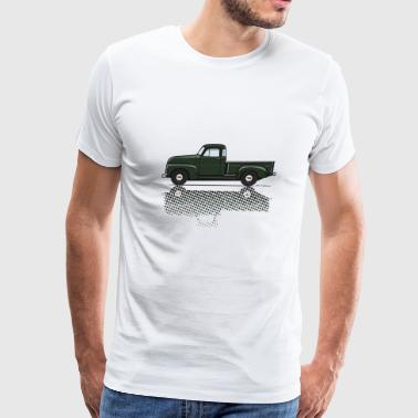 Car Enthusiast 47 54 advance DkGreen - Men's Premium T-Shirt