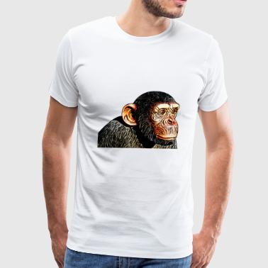 chimpanzee monkey animal ape - Men's Premium T-Shirt