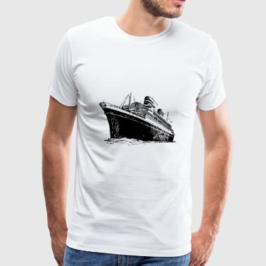 ship boat canoe sailboat submarine yacht anchor408 - Men's Premium T-Shirt