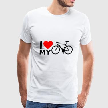 I love my bicycle - Men's Premium T-Shirt