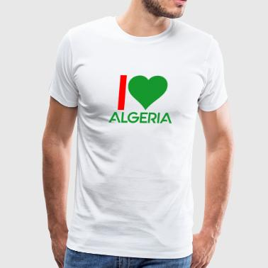 Tee shirt I love Algeria - Men's Premium T-Shirt