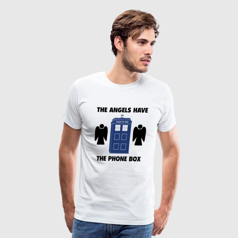 The angels have the phone box - Men's Premium T-Shirt