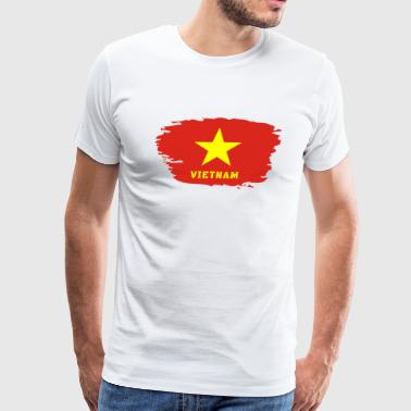 Vietnam Flag - Men's Premium T-Shirt