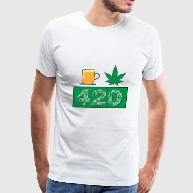 Tea cannabisleaf 420 - Men's Premium T-Shirt