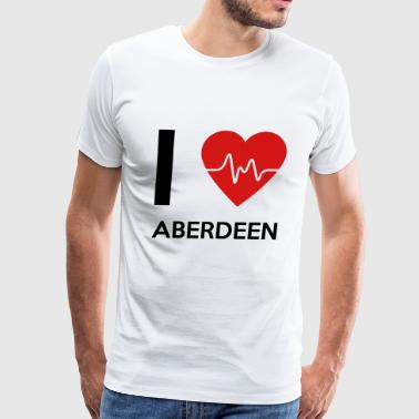 I Love Aberdeen - Men's Premium T-Shirt