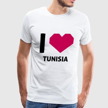 I Love Tunisia - Men's Premium T-Shirt