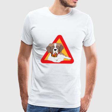 St. Saint Bernard Dog - Men's Premium T-Shirt