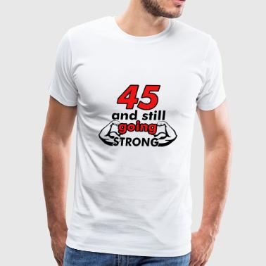 45 birthday design - Men's Premium T-Shirt