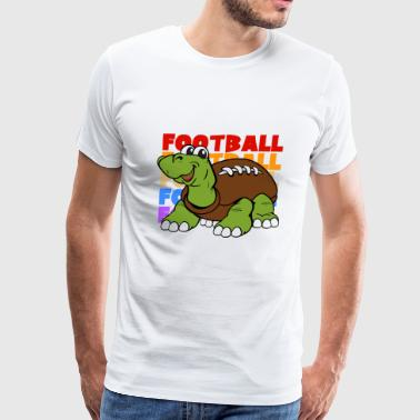 Retro Vintage Dabbing Dab American Football Turtle - Men's Premium T-Shirt