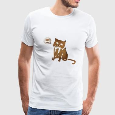 Sabertooth Can Haz Cheezburger - Men's Premium T-Shirt