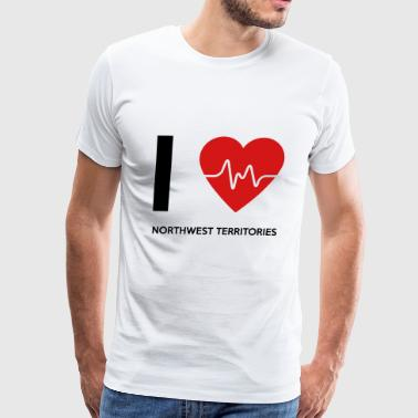 I Love Northwest Territories - Men's Premium T-Shirt