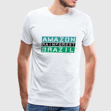 Amazon rainforest Brazil - Men's Premium T-Shirt