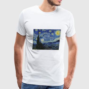 Starry night by Vincent Van Gogh - Men's Premium T-Shirt