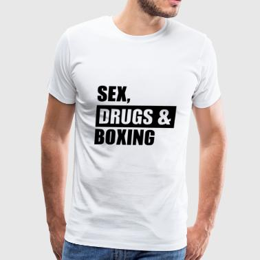 sex drugs boxing - Men's Premium T-Shirt