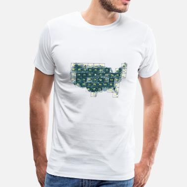 Periodic Table Of Cartoons Periodic Table of the States - Men's Premium T-Shirt