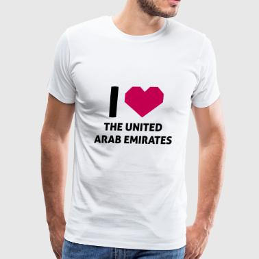 I Love The United Arab Emirates - Men's Premium T-Shirt