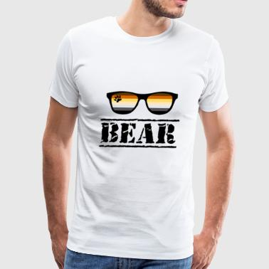 Gay Bears Bear Sunglasses LGBT Gay Pride Community Paw - Men's Premium T-Shirt