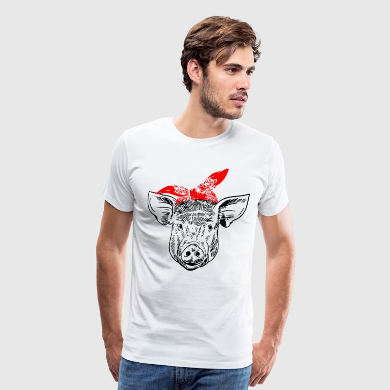 pig vegan - Men's Premium T-Shirt