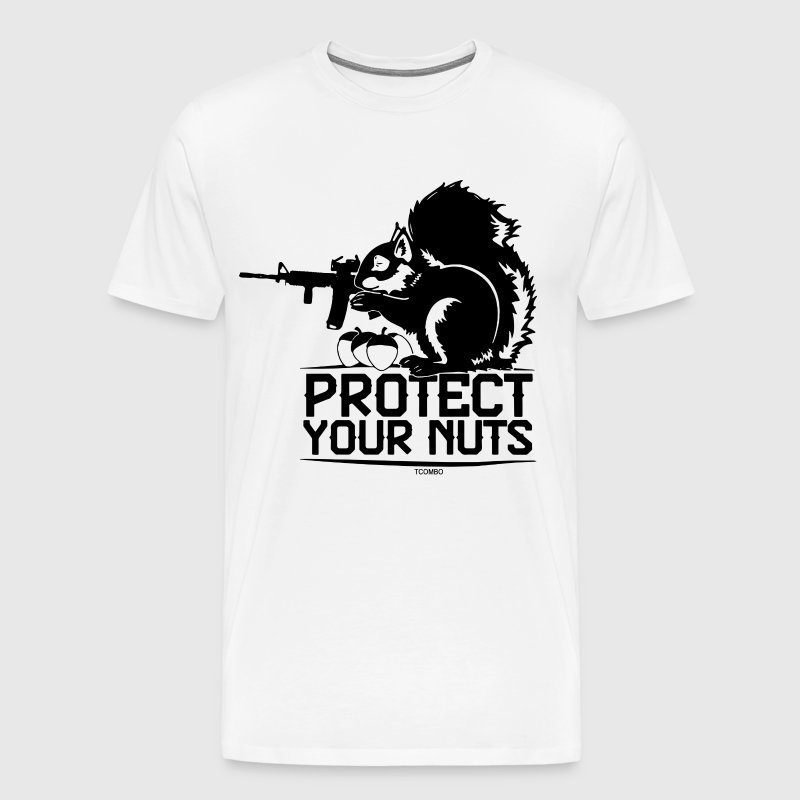 Protect Your Nuts Military Funny Guns - Men's Premium T-Shirt