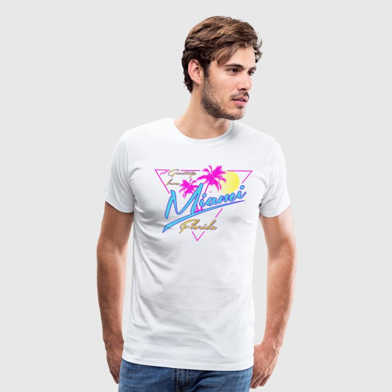 Greetings From Miami tee shirts - Men's Premium T-Shirt