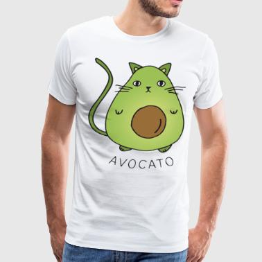 Avocato Top Fashion Tumblr Funny Crazy Cat Lady Ca - Men's Premium T-Shirt