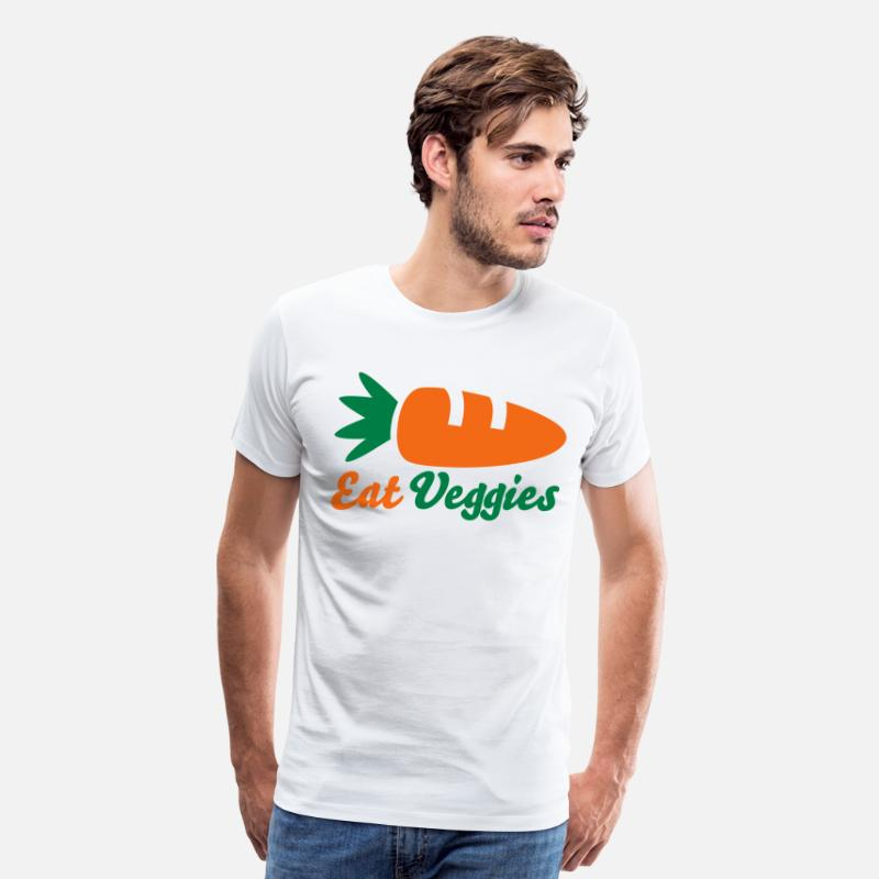 Eat T-Shirts - Eat Veggies - Men's Premium T-Shirt white
