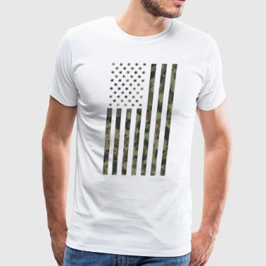 Us Army Tank American Flag Army Military Veteran Camouflage - Men's Premium T-Shirt