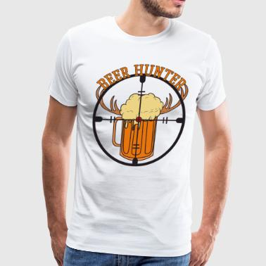 Sniper Crosshair Beer Hunter Glass Chasing Drink Party - Men's Premium T-Shirt