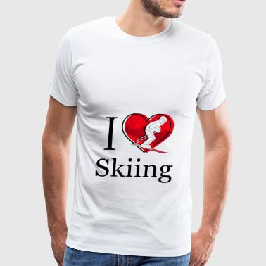 I Love Skiing / Ski fahren - Men's Premium T-Shirt