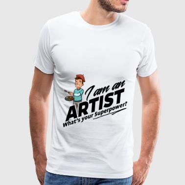 Proud Artist - What's your Superpower - Men's Premium T-Shirt