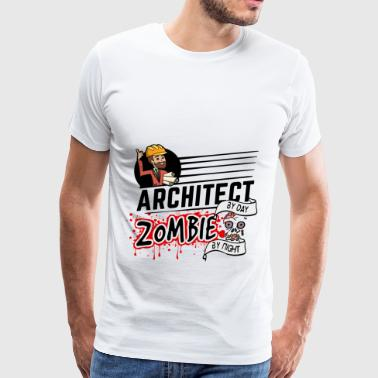 Female Architect - Zombie by night - Men's Premium T-Shirt