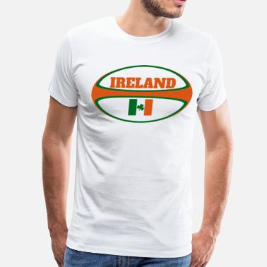 Northern Ireland Ireland Flag Rugby Ball - Men's Premium T-Shirt